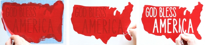 Learn how to make a DIY painted wooden sign for the 4th of July using the Cricut Explore and the Cricut Stencil vinyl.