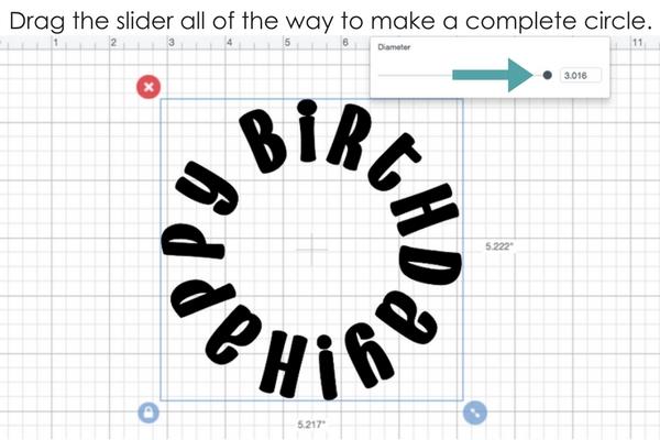 Curve text in Cricut Design Space