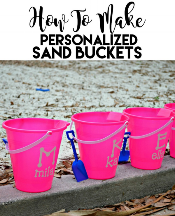 How to Make Personalized Sand Buckets by Sew Woodsy