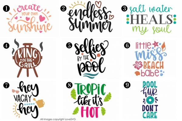 Free Summer SVGs from LoveSVG