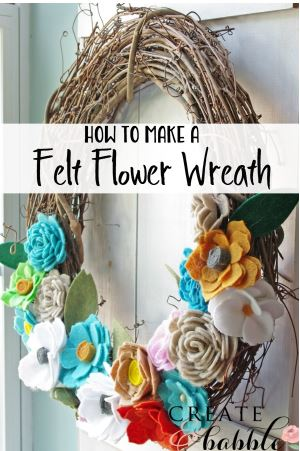 Best Cricut Projects-Felt Flower Wreath-Create and Babble.JPG