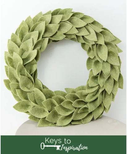 Best Cricut Projects-felt greenery wreath- keys to inspiration.JPG