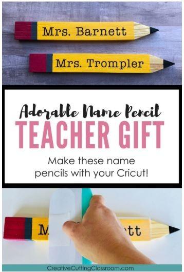 Best Cricut Projects-Teacher name pencil-Creative Cutting Classroom.JPG
