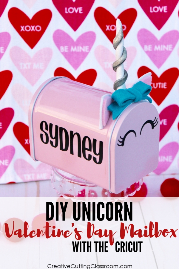 How to make a DIY Valentines Day Mailbox with Cricut | Cricut Project | Target Mailbox | Valentine's Day box | DIY classroom mailbox | DIY Unicorn Valentines + Box | DIY Valentine Box | DIY Valentine Craft | DIY Valentines | DIY Unicorn Valentines | How to Make Valentines box using the Cricut Maker | #cricut #valentines #unicorn