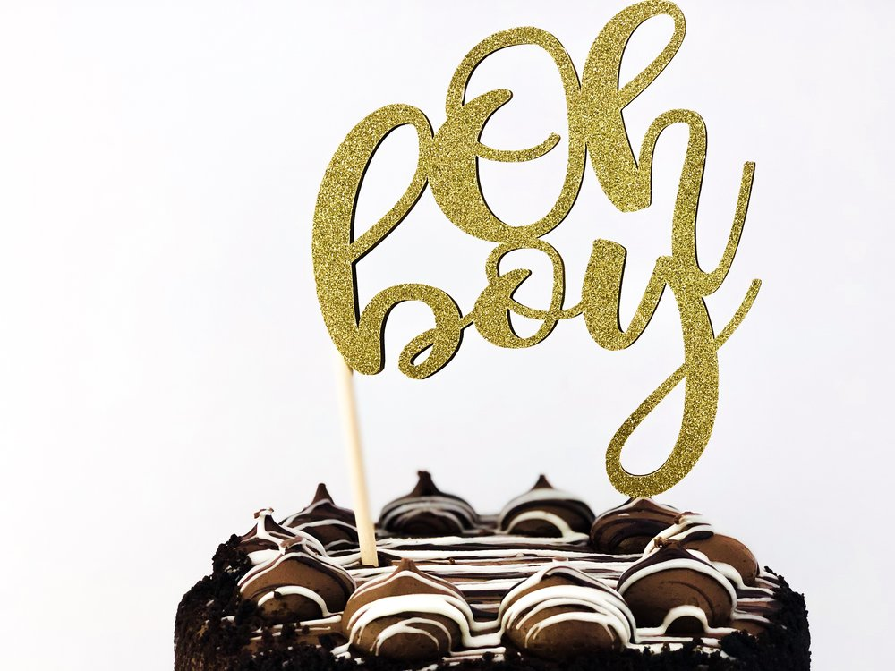 Oh Boy Cake Topper with Cricut- fee SVG downlaod