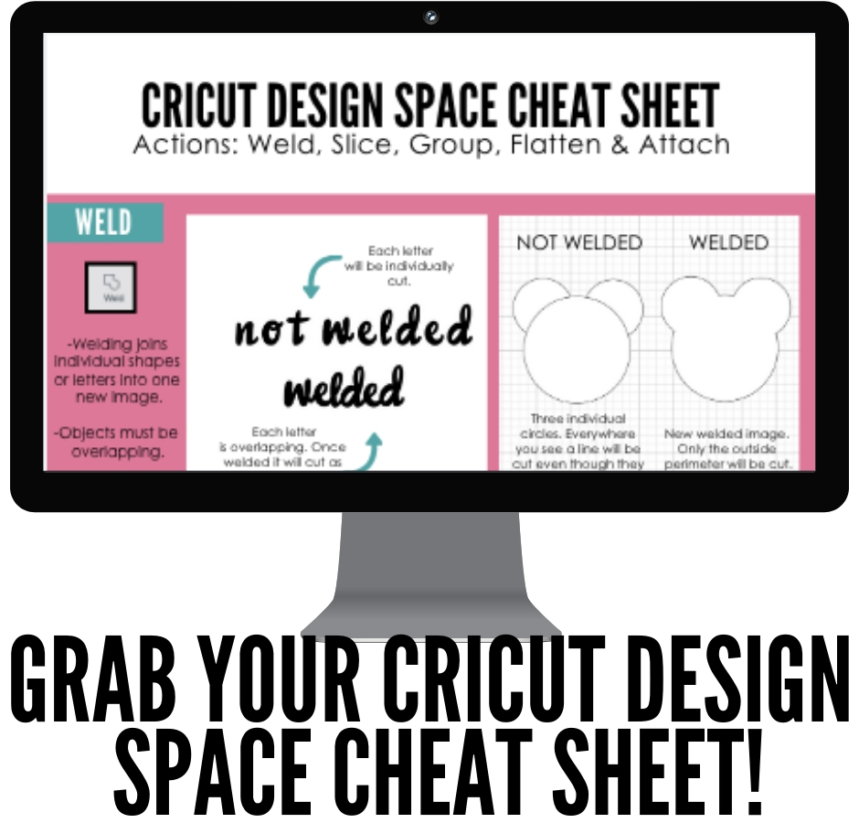Cricut Design Space Cheat Sheet