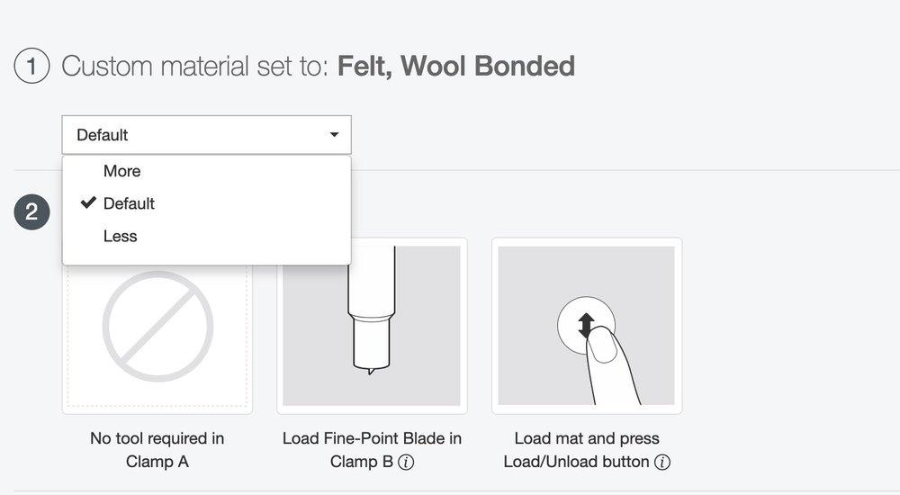 Adjusting Cricut cut settings for a better cut
