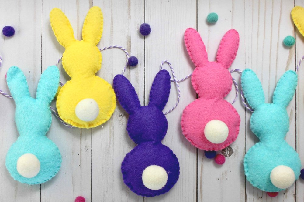 Cricut+felt+Easter+Bunny+banner