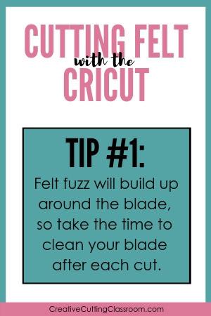 Cutting Felt with a Cricut Explore and Cricut Maker Tip #1
