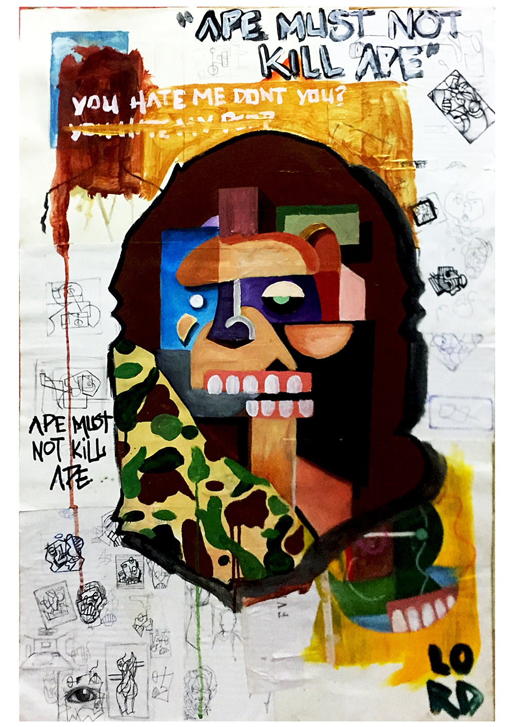 """ APE MUST NOT KILL APE "" 2015"