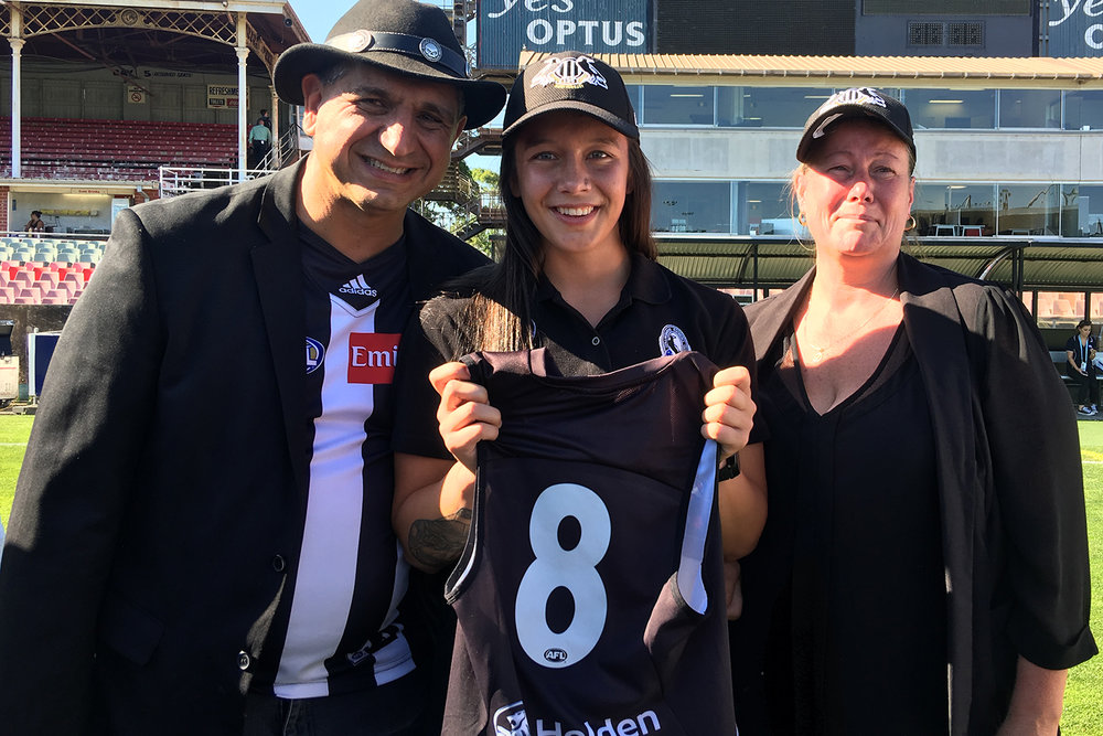 """Under Chyloe's guidance I gained the courage to take risks and step outside of my comfort zone in order to develop my body and my mind, allowing for me to become the best version of myself possible and to continuously strive to gain new opportunities.""  – Brittany Bonnici, former U18 Vic Metro Captain & Collingwood FC player"