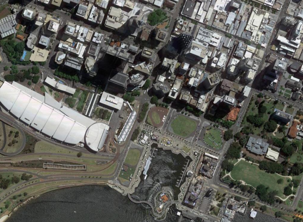 EQ LOT 4  2015-2019  A four-year occupation of the corner site of Elizabeth Quay, working bimodally as home base for PIAF's summer festival, and a relaxed urban park.    #posteqlot4
