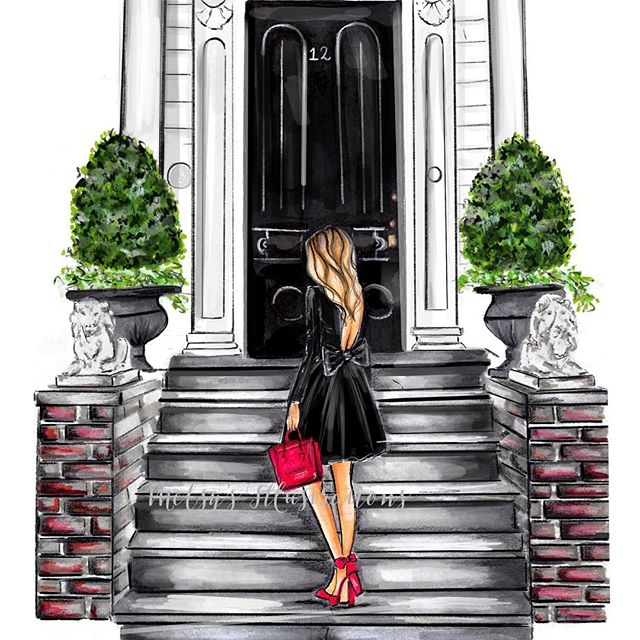 What month would you like to see this illustration in for the 2018 planner?! You pick! #melsys #melsysillustrations #fashion #art #fashionillustration #copicmarker #nycillustrator #bostonillustrator