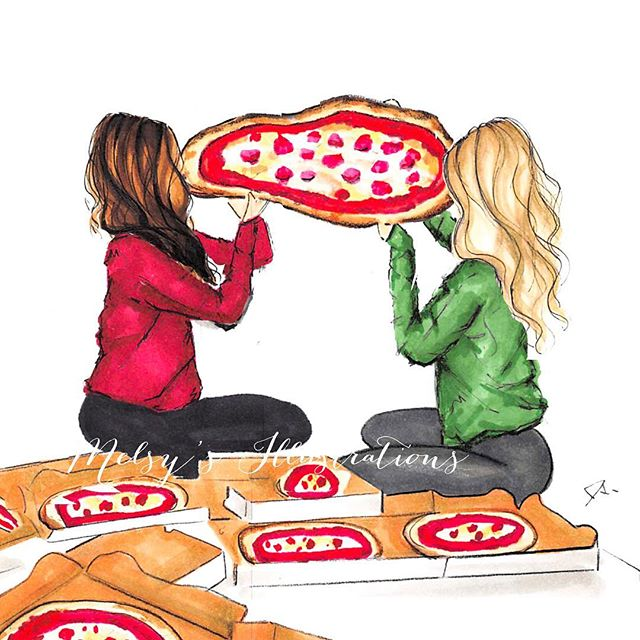 Weekend vibes, TAG your pizza pals #melsys #weekend #weekendvibes #mood #pizza #nycillustrator #pizzalovers #foodie #food #za #bostonillustrator #pizzabarn