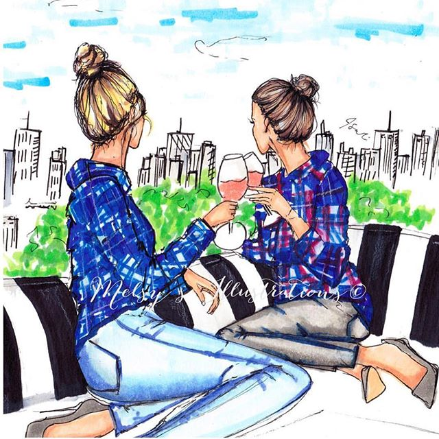 Tag your flannel friends! #humpday #weds #fashion #fashionillustration #illustration #art #melsys #melsysillustrations #copicmarkers #copicart #copic #nycillustrator #bostonillustrator #fashion #fashionillustration