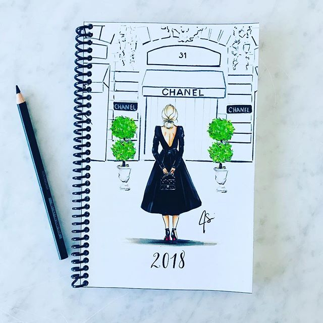 IT'S HERE 💗Proofing the planner today!!!! It will be available to purchase super SOON (just putting the finishing touches on it)! The planner will have a hard laminate cover and will have wire-o binding (not shown here). This cover will come in Blonde, Brunette, Red, and African American 💗 #melsys #2018planner #fashionillustration #art