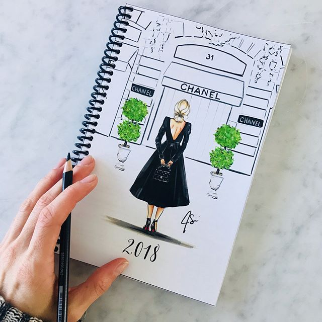 The planner is now available to order! Click on the link in bio! (My prints, ornaments, coasters and more will be available to purchase online very soon! Happy shopping! Xo #planner #melsys #melsysillustrations #fashionillustration