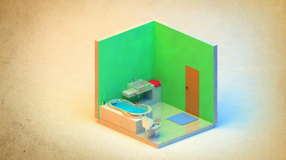 Bathroom w/ AR