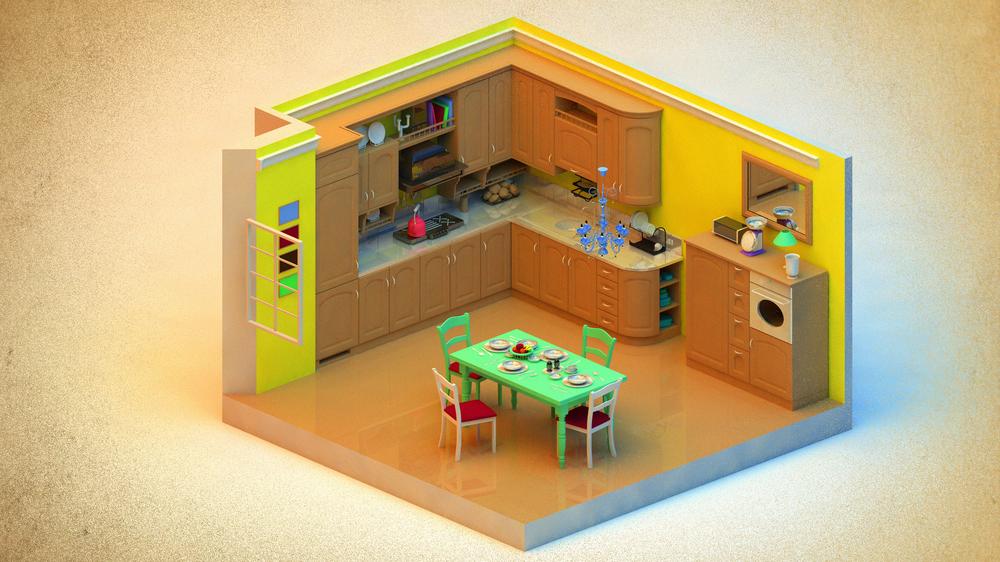 Kitchen w/o AR