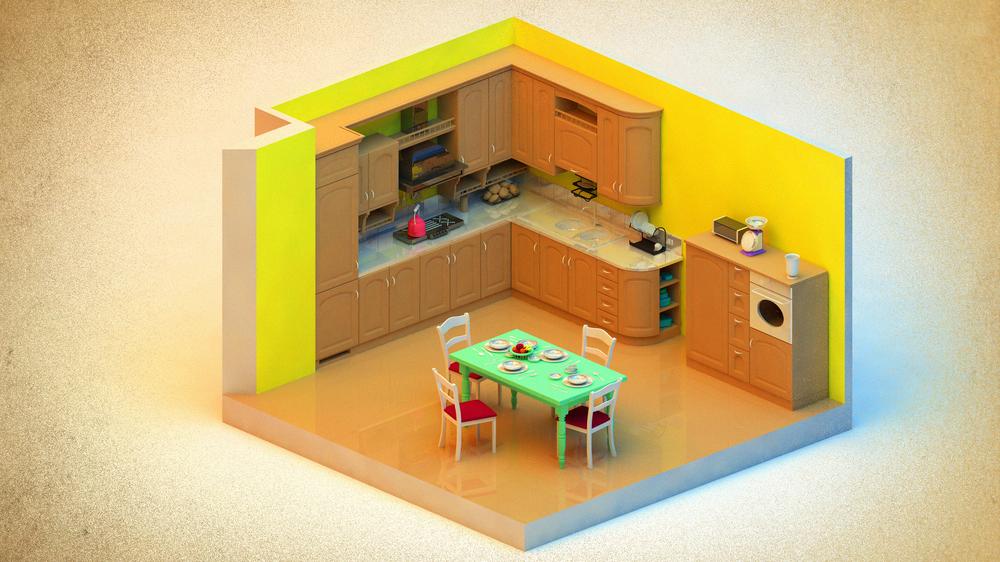 Kitchen w/ AR