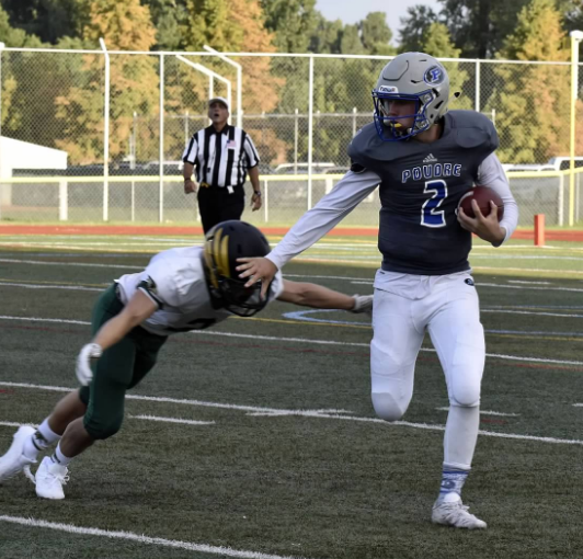 "Troy McFadden (#2 QB) - Class of 2018    All Conference 2017    Voted to Play in the All State Game    Email:   mcfaddentroy10@yahoo.com    Hudl:  Hudl Highlight Film     Player Profile:    Troy McFadden Profile      Click Here to See Troy's 2016 Stats     Twitter Handle:  @troy2mcfadden   Physical Data:  Height: 6'2"" / Weight:  185 lbs. / Max Bench: 240 lbs. /Max Squat:  275 lbs. / Max Clean:  205 lbs. / 40 time: 4.85 seconds   Football Honors:  2nd Team All Conference in 2017/  Led Conference in passing yards with 1,800 yards, and had TD/Int Ratio of 12/4 / Team Captain in 2017/ Freshman Captain:2014/ JV Captain: 2015/ Varsity Letter:  2016, 2017   Academic Information : Please contact our recruiting coordinator for this information. We are not putting academic information on our website at this time.   Coaches Comments:  Troy suffered an ACL injury early in the season in 2016. He was splitting time as the varsity starting QB prior to his injury. We except big things from Troy in 2017 and know he will lead us to great success. He has all the tools to be a great player."