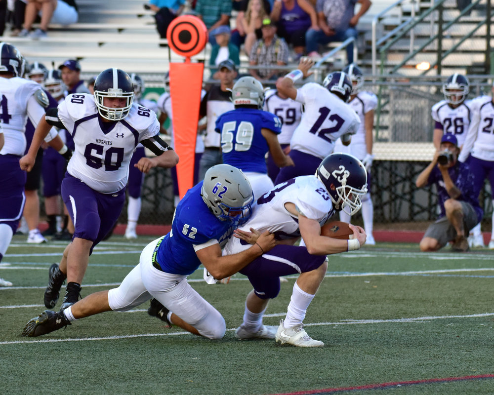 "Landon Correll - #62 JR DT / NT -Class of 2019    Projects: D-II / D-III /Position = ILB    Email:  51265@psdschools.org   Hudl:    http://www.hudl.com/video/3/8608114/5a1cee0e5eec391220ab27d2     Physical Data: Height: 6'2"" Weight: 220 lbs.    Coaches Comments:  Landon is a physical force on the field and was a key part of our defense in 2018. He has a tenacious work ethic both on and off the football field and is also very strong. He broke our all time squat record this off-season and would have been an all conference/all state caliber player had he not been slowed down by a hand injury in early 2017."