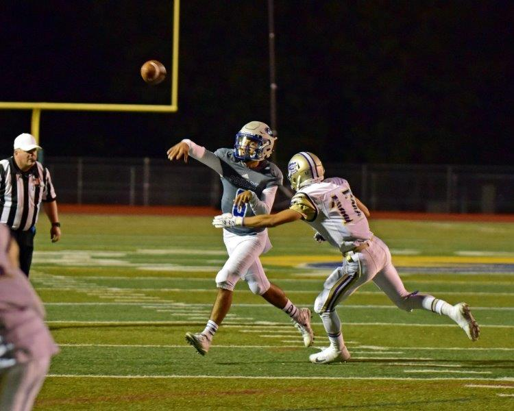 "Sergio Tarango - (#8 - QB / P / S) - Class of 2020    Email:  64868@psdschools.org   Hudl Highlight Film:    Sergio Hudl Highlight     Physical Data: Height:  5'10"" Weight: 180 lbs   2018 Honorable Mention All Conference (P) / 2017 Varsity Letterman / 2016 Freshman Team Offensive MVP    Coaches Comments:  Sergio was our starting QB for all of 2018. He also served as our starting punter. Sergio served as our backup QB as a sophomore in 2017 before going down with an injury late in the year. Sergio has the athletic ability to play many positions on the football field. Sergio is also a great baseball player."