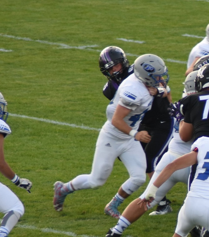 "Michael Scott - #44 SR DT - Class of 2019    Email:  mscottpoudre1@gmail.com     Projects: D-II/ D-III / DT    Hudl:  http://www.hudl.com/v/2AwCAq   Physical Data : 6''2"" 220 lbs.   Coaches Comments:  Michael came on strong in 2018 . He has great backside pursuit and has the strength to make plays on the play side. He was part of a strong defensive line for us in 2018."