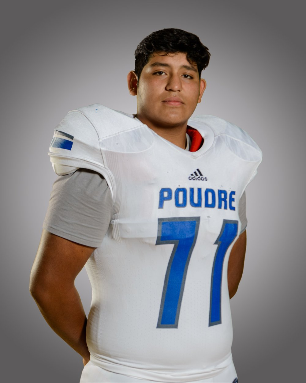 "Brian Crespo - #71 / LT Class of 2020 / 6'6"" 300 lbs    Email:  chagito1234@hotmail.com   Hudl:   http://www.hudl.com/v/2Avh7P    Twitter Handle:  @briancrespo16   Honors : Honorable Mention All-State 2018 - CHSAA / 1st Team All Conference at LT - Front Range League"