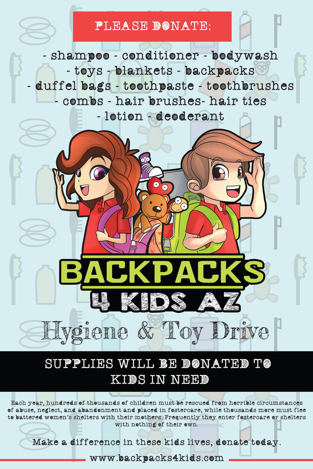 Backpacks 4 Kids Poster v1