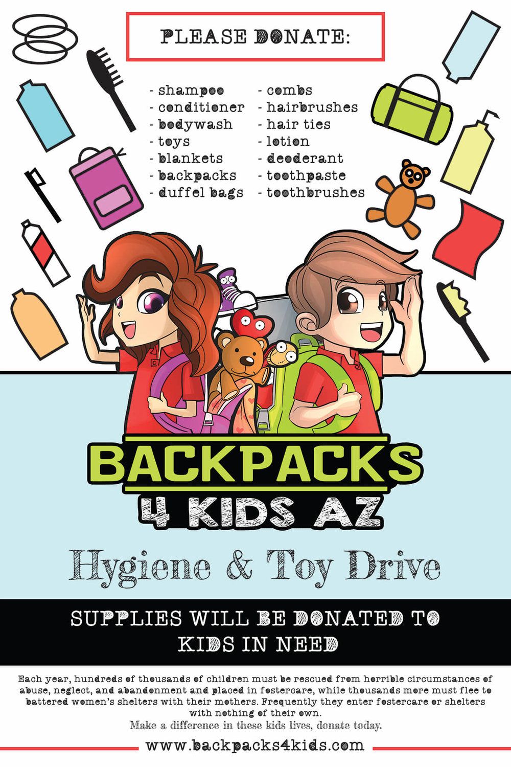 Backpacks 4 Kids Poster v2