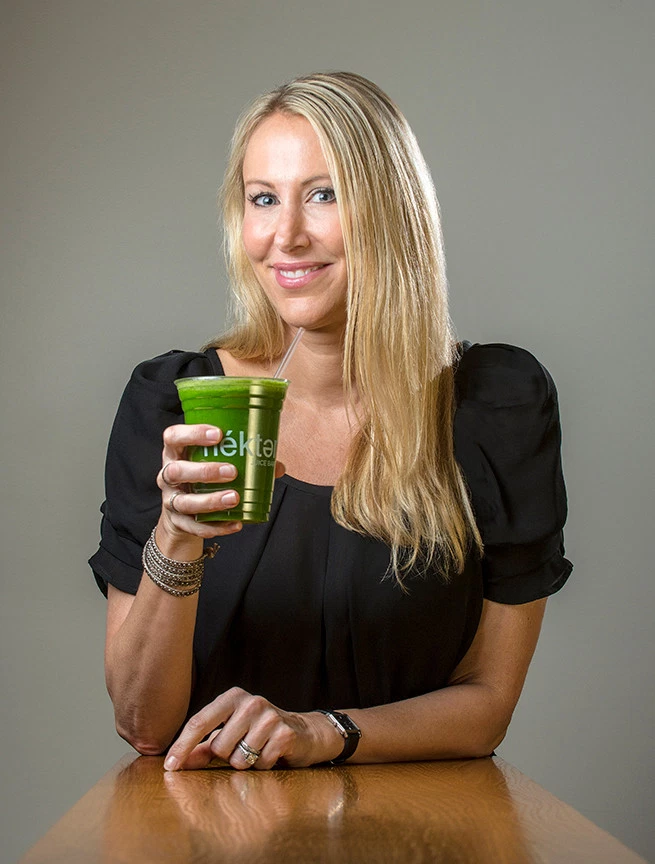Pictured: Alexis Schulze, Co-Founder of Nekter Juice Bar