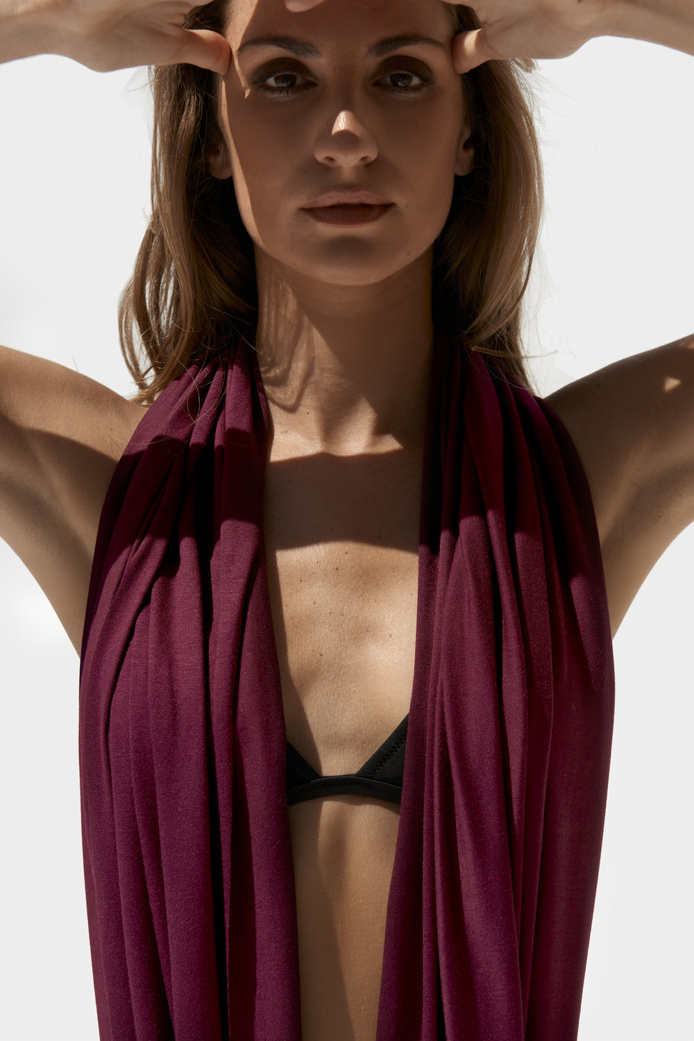 burgundy infinity scarf wrap shawl