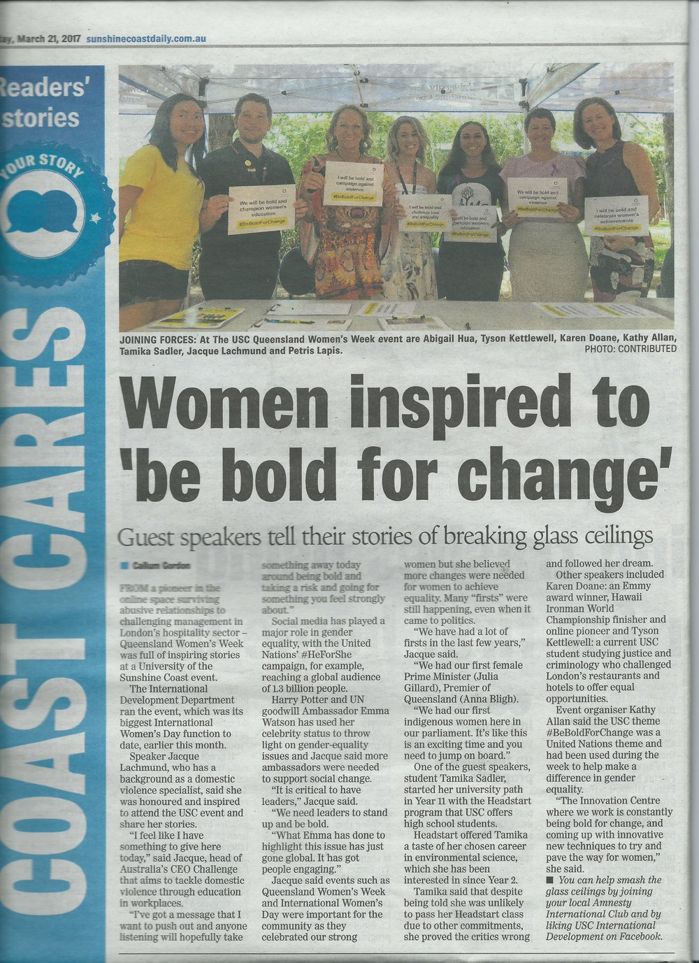 Women inspired to 'be bold for change'