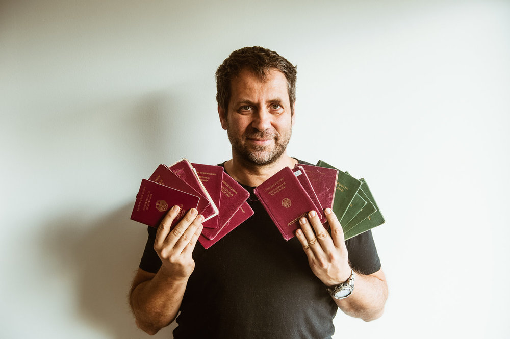 Michael Runkel  holds 13 passports after traveling to all 193 U.N. countries.
