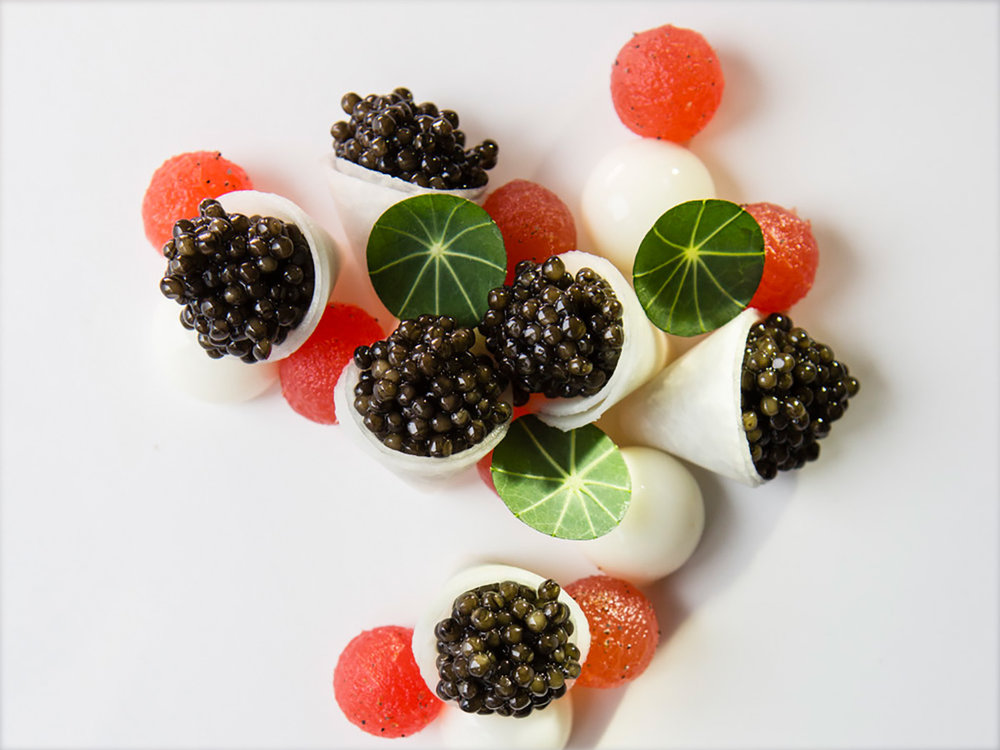 royal Belgian oscietra caviar - water melon - mozzarella (2013)