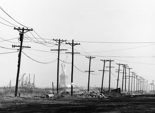 David Plowden, 1967. Statue of Liberty from Caven Point Road, Jersey City, New Jersey. Seen at the Figge Art Museum, Davenport, Iowa.