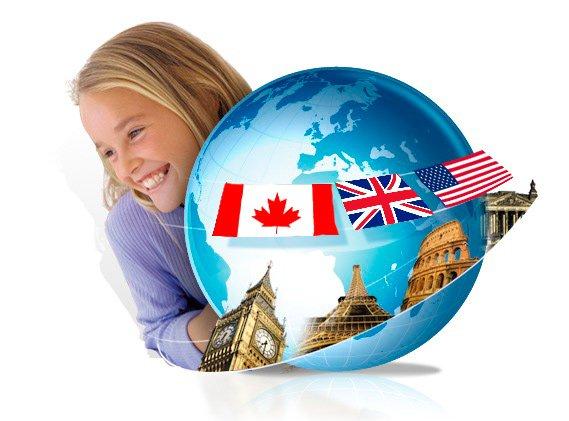 Вивчення іноземних мов - приватні школи у п. Онтаріо, м. Торонто (Канада) - Брайтмайндс Скул, штату Флорида (США), школи-пансіони Великої Британії (Ебботс Брумлі Скул) -