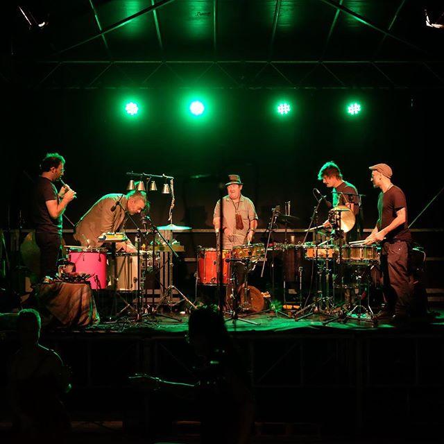 Live in Lugano #dongbah #lugano #ticino #batterie #percussioni #percussion #francescomiccolis #lucmüller #marcelpapaux #jeanrochat #nicolasmonguzzi Photo by Roger Salem