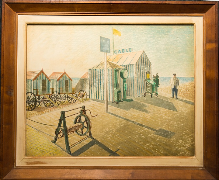 Bathing Machines, Aldeburgh (1938)