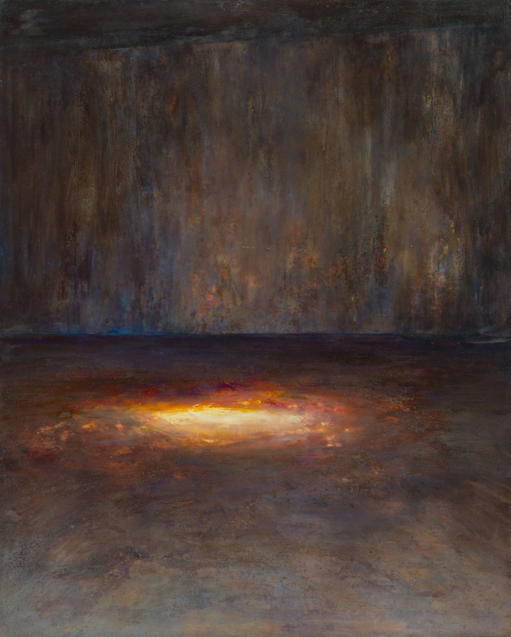 Wait  (2015-8) Egg tempera and gesso, 152 x 122 cm. Copyright Nina Murdoch, courtesy Marlborough Fine Art