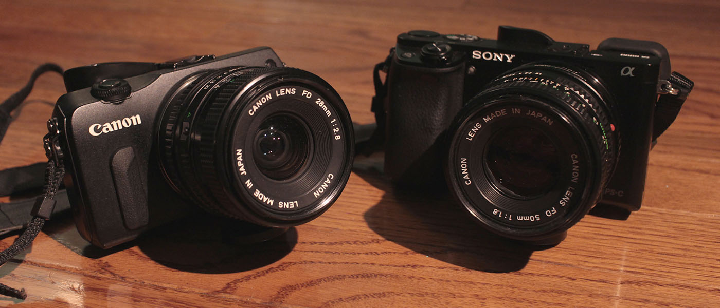 Canon EOS M and Sony A6000 with Legacy Lenses
