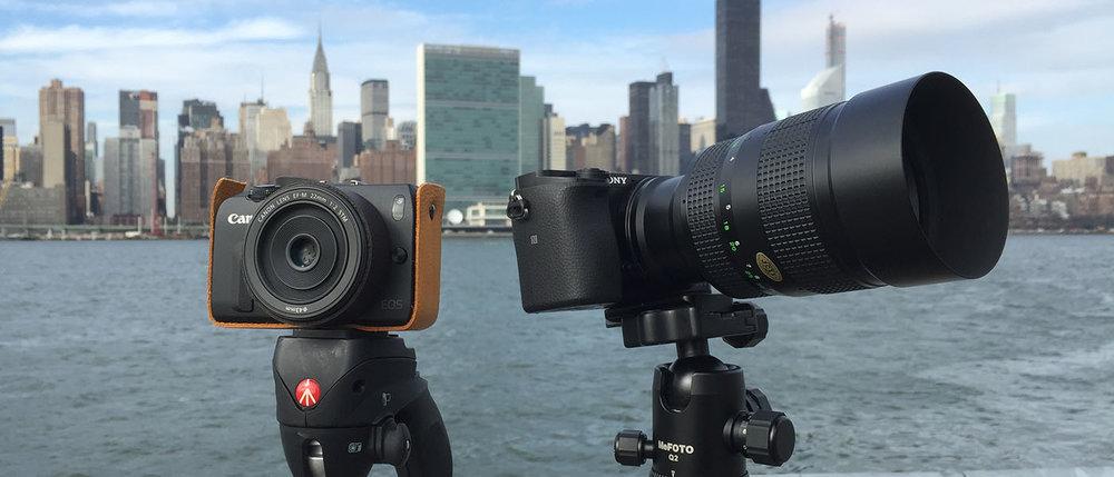 EOSM with A6000 cameraplex