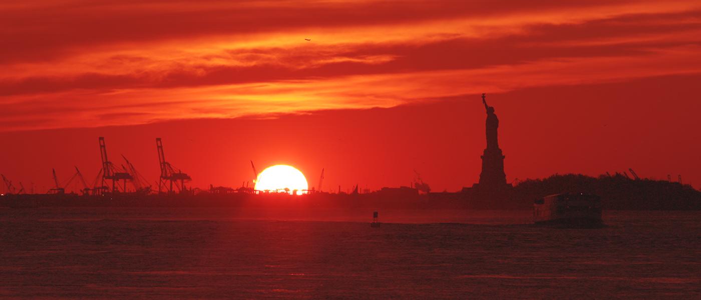 Sunset from Brooklyn Bridge Park | New York