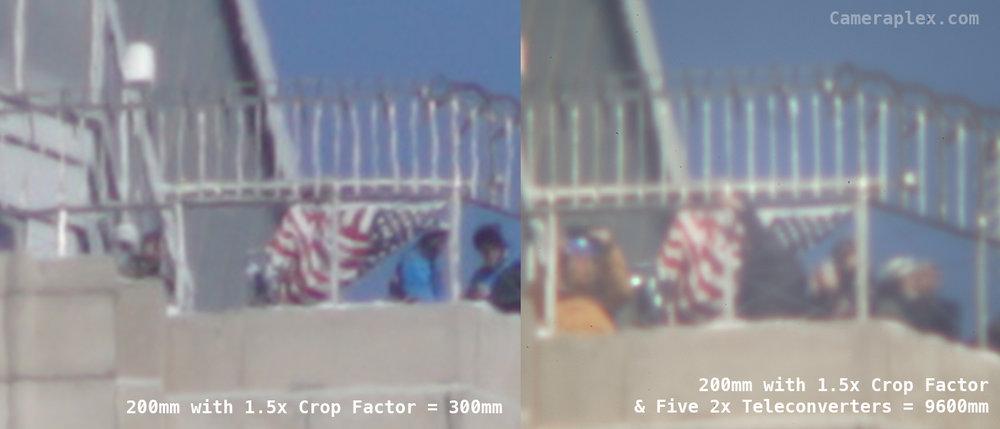 200 vs 9600 teleconverter cameraplex