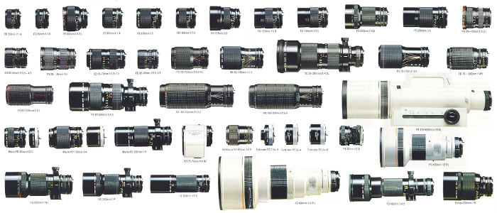 list of every canon fd lens ever made