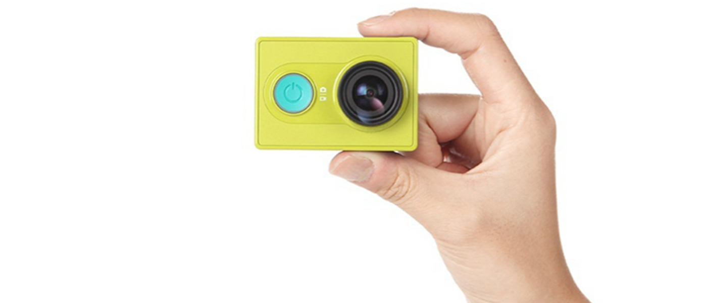 Xiaomi Yi Action Camera in Hand Cameraplex