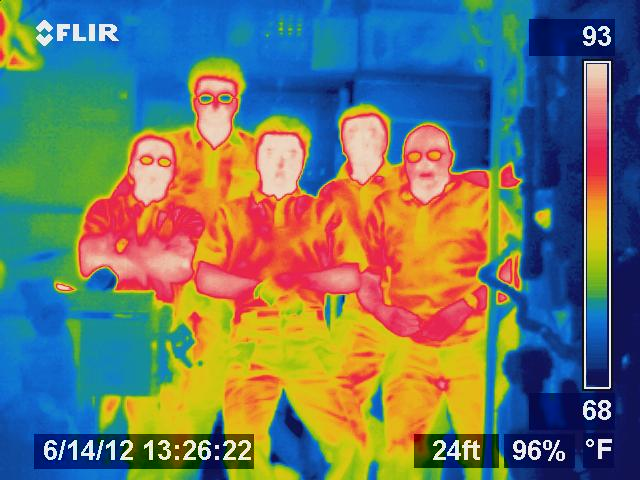 Crew portrait in thermal Ir Cameraplex