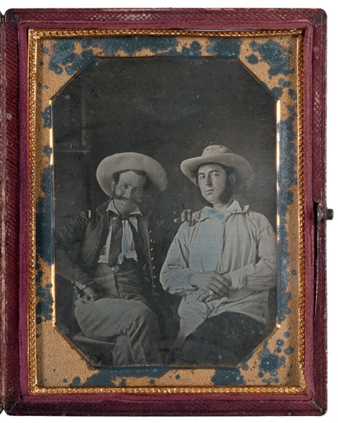 Earliest Known Images of People Smiling, Daguerreotype of two American officers during the Mexican-American War, Veracruz, Mexico, 1847