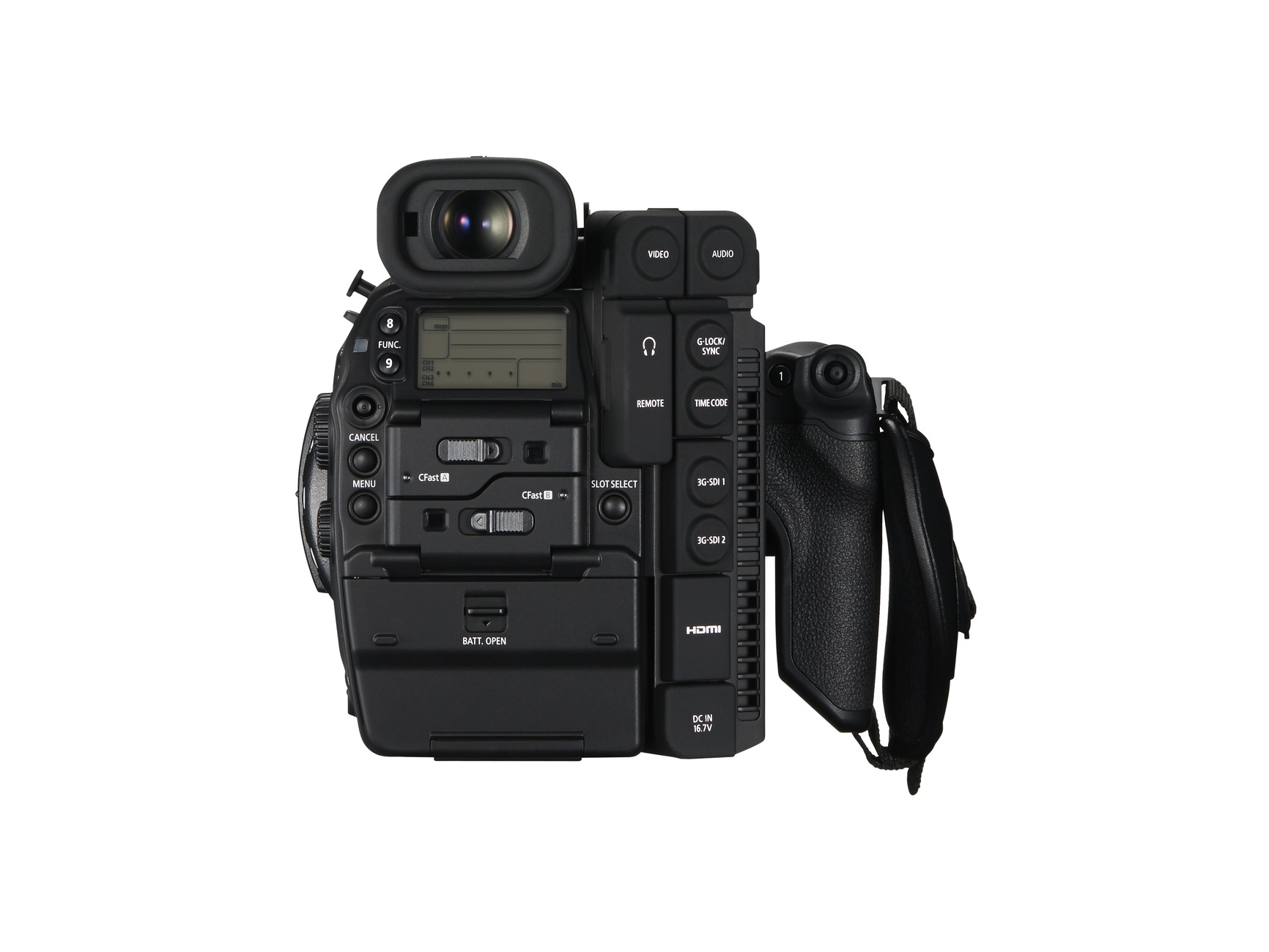 New Canon EOS C300 Mark II back screen
